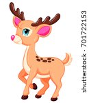 cute baby reindeer with a pink... | Shutterstock .eps vector #701722153