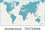 world map political vintage... | Shutterstock .eps vector #701724046