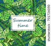 summer time hand drawn tropic... | Shutterstock .eps vector #701726050