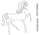 coloring page of mustang horse