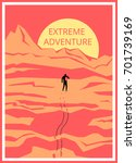 extreme adventure. | Shutterstock .eps vector #701739169