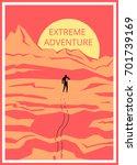 extreme adventure. | Shutterstock .eps vector #701739169