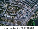 residential district in a large ... | Shutterstock . vector #701740984