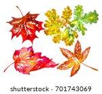 autumn multicolor leafs | Shutterstock . vector #701743069