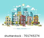 city landscape. real estate and ... | Shutterstock .eps vector #701745274