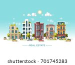 city landscape. real estate and ... | Shutterstock .eps vector #701745283