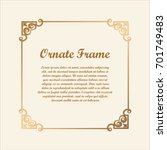 vector decorative frame with... | Shutterstock .eps vector #701749483