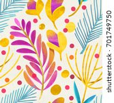 seamless floral pattern on... | Shutterstock . vector #701749750
