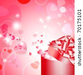 valentine gift box with ribbon... | Shutterstock . vector #70175101