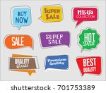 sale stickers modern design... | Shutterstock .eps vector #701753389