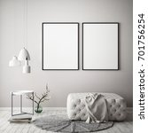 mock up poster frame in pastel...   Shutterstock . vector #701756254