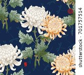 vector seamless background.... | Shutterstock .eps vector #701757514