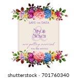 vector realistic flower... | Shutterstock .eps vector #701760340