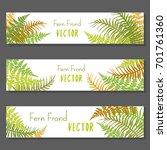 fern frond vector illustration... | Shutterstock .eps vector #701761360