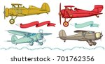 airplanes  advertising banners... | Shutterstock .eps vector #701762356