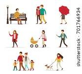 autumn people characters... | Shutterstock .eps vector #701766934