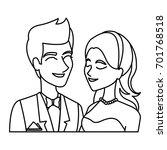 portrait wedding couple happy... | Shutterstock .eps vector #701768518