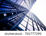 modern business skyscrapers.... | Shutterstock . vector #701777290
