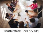 portrait of young perspective... | Shutterstock . vector #701777434