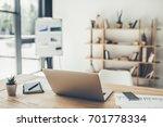 modern working place in light...   Shutterstock . vector #701778334