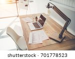 side view of modern working... | Shutterstock . vector #701778523