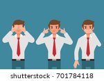 see nothing  hear nothing and... | Shutterstock .eps vector #701784118