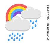vector icon of rainbow  weather ... | Shutterstock .eps vector #701785456