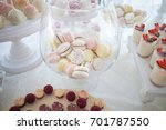 wedding decorations and candy... | Shutterstock . vector #701787550