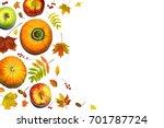 autumn composition. seasonal... | Shutterstock . vector #701787724