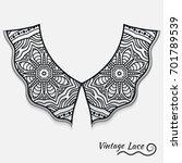 Vintage Lace Collar In Retro...
