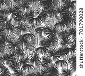 seamless monochrome tropical... | Shutterstock .eps vector #701790028