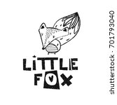 little fox. hand drawn style... | Shutterstock .eps vector #701793040