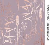 vector pattern with wildflowers ... | Shutterstock .eps vector #701794228