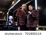 stylish asian model and model... | Shutterstock . vector #701800114