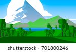 cartoon countryside | Shutterstock . vector #701800246