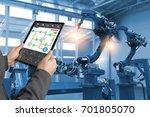 engineer hand using tablet ...