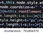 real java script code... | Shutterstock . vector #701806570