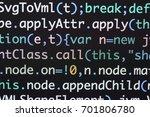 real java script code... | Shutterstock . vector #701806780