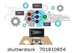 deep learning  machine learning ... | Shutterstock .eps vector #701810854