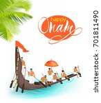 greeting background with boat... | Shutterstock .eps vector #701811490