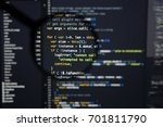 real java script code... | Shutterstock . vector #701811790