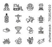 gold mining factory industry... | Shutterstock .eps vector #701814010