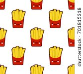 french fries  seamless pattern... | Shutterstock .eps vector #701815318