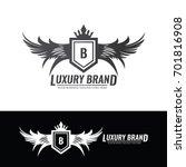luxury brand logo design... | Shutterstock .eps vector #701816908
