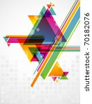 abstract geometric shapes with... | Shutterstock .eps vector #70182076