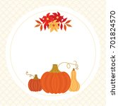 thanksgiving  autumn  fall... | Shutterstock .eps vector #701824570