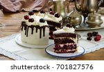 black forest cake ... | Shutterstock . vector #701827576