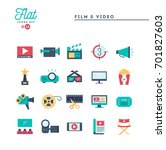 film  video  shooting  editing... | Shutterstock .eps vector #701827603