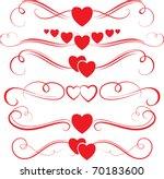 valentine swirls | Shutterstock .eps vector #70183600