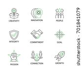 modern flat thin line icon set... | Shutterstock .eps vector #701841079